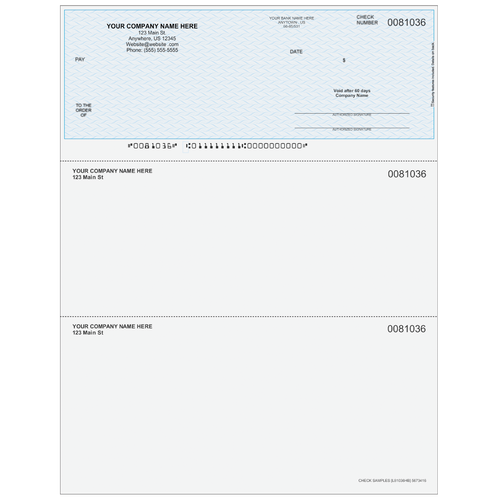 L81036 - Multi-Purpose Top Business Check