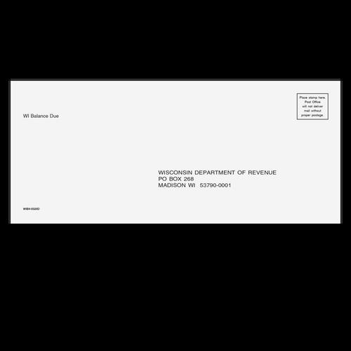 WIB410 - Wisconsin Balance Due Envelope