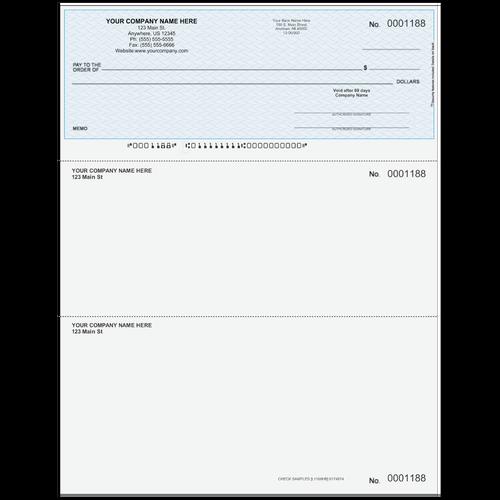 L1188 - Multi-Purpose Top Business Check