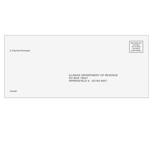 ILB410 - Illinois Balance Due Envelope