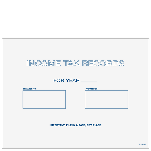 TAXENV10 - Tax Record & Receipt Envelope