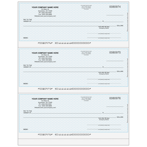 L80974 - Multi-Purpose 3-up Business Check