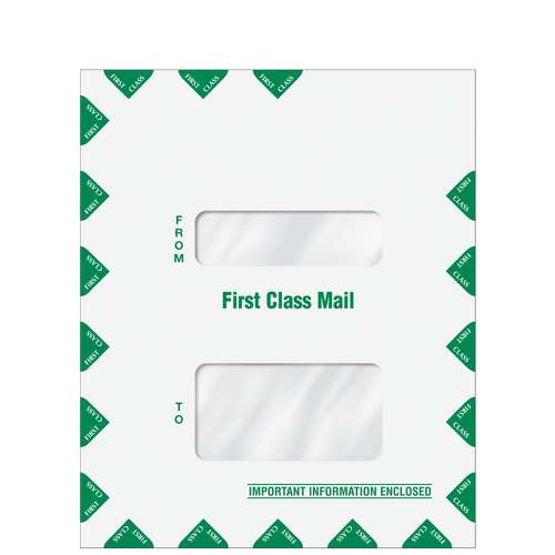 80649 - Double Window First Class Mail Envelope