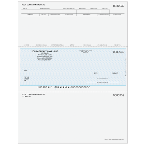 L80932 - Payroll Middle Business Check