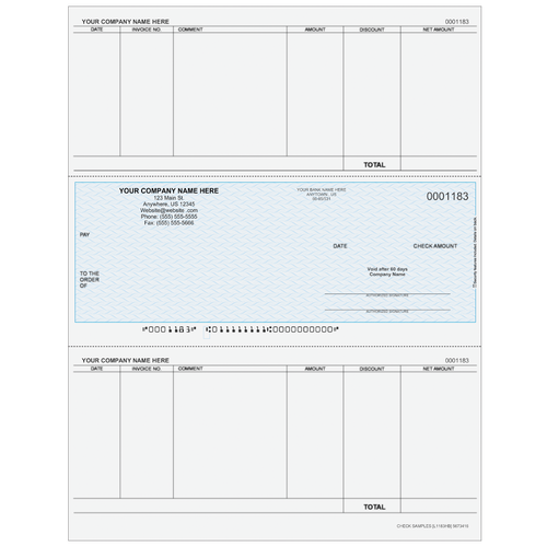 L1183 - Accounts Payable Middle Business Check