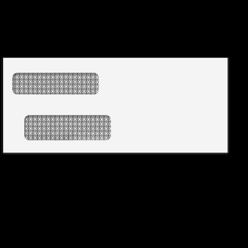 E939 - Double Window Envelope  3 7/8 x 9 1/8 (Moisture Seal)