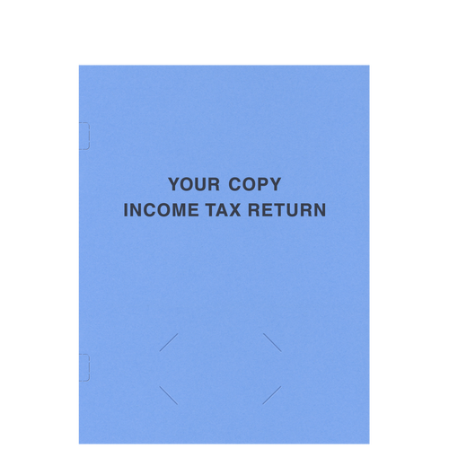 FL40XX - Tax Return Side-Staple Folder (Business Card Slits)
