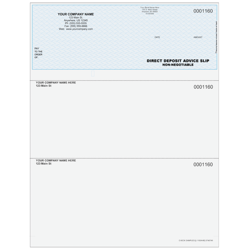 L1160A - Advice of Deposit Top Business Check