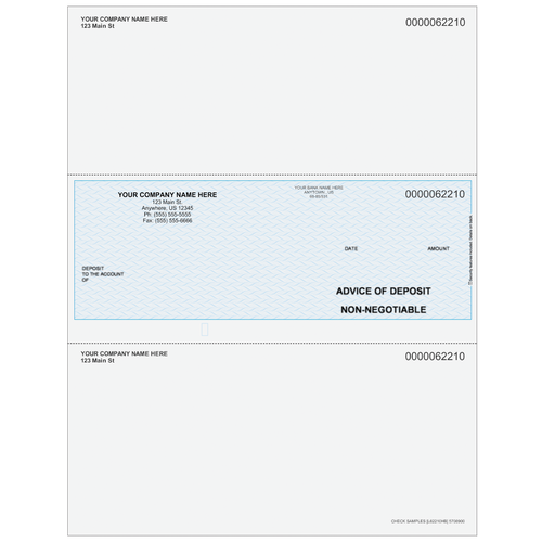 L62210 - Advice of Deposit Middle