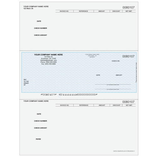 L80107 - Accounts Payable Middle Business Check