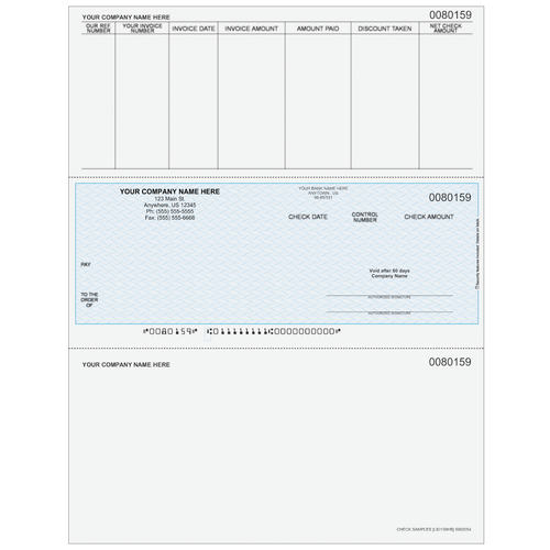 L80159 - Accounts Payable Middle Business Check