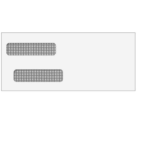 80750-  #10 Double Window Envelope