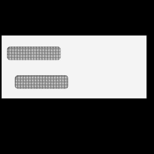 80750S - #10 Double Window Envelope (Self Seal)