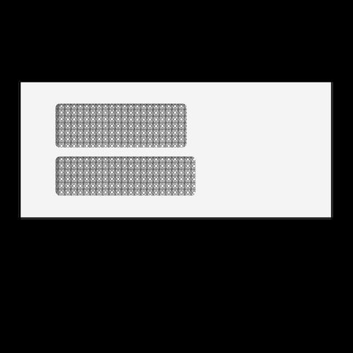 6156 - #9 Double Window Env