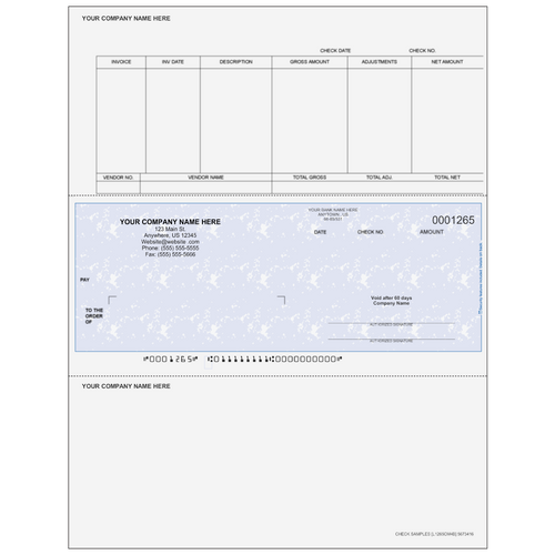 L1265C - Accounts Payable Middle Business Check