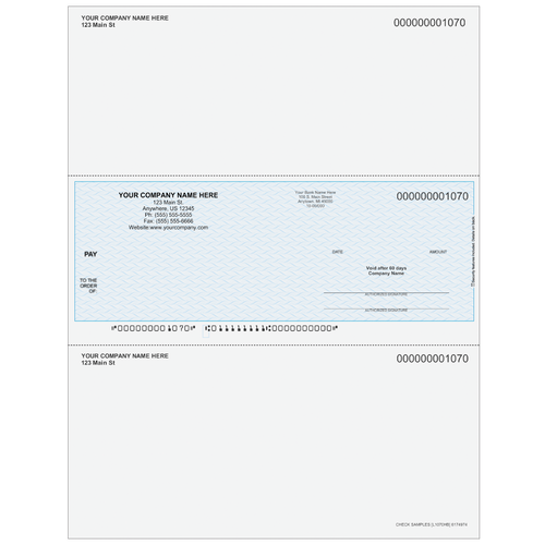 L1070 - Multi-Purpose Middle Business Check