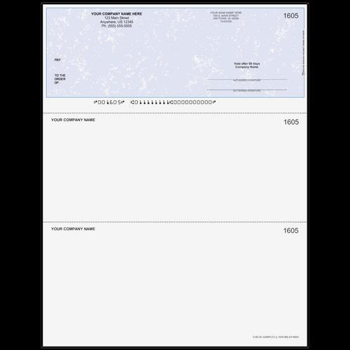 L1605 - Multi-Purpose Top Business Check