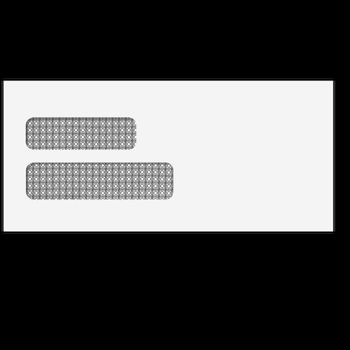 "E1501 - Double Window Envelope - Moisture Seal - 4 1/8"" x 9"""