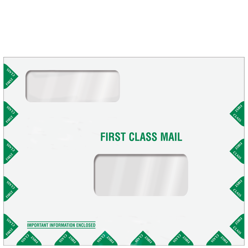 LA100 - First Class Double Window Envelope