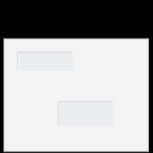 80418 - 9 x 11.5 Double Window Blank Envelope