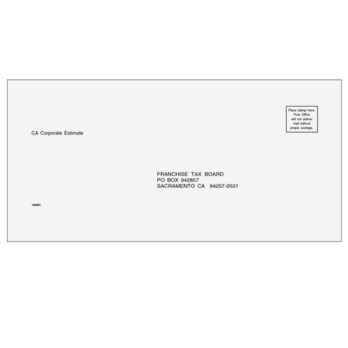 10009111 - Estimate Envelope - California Corporate