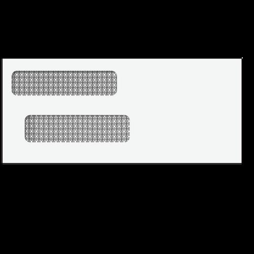 "E44005 - Double Window Envelope - Moisture Seal - 3 7/8"" x 8 7/8"""