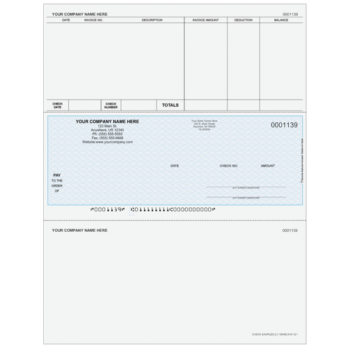 L1139 - Accounts Payable Middle Business Check