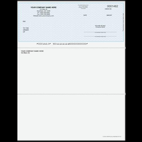 L1462 - Multi-Purpose Top Business Check