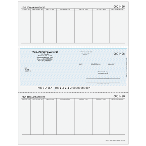 L1496 - Accounts Payable Middle Business Check