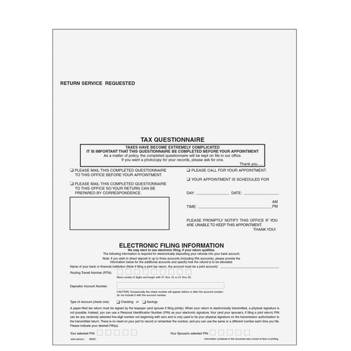 A009 - 1040 Tax Appointment Universal Organizer