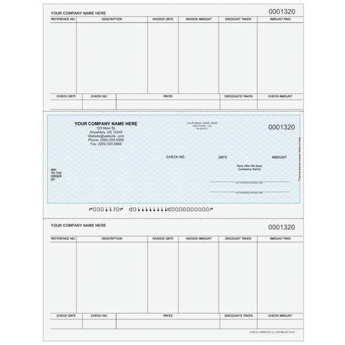 L1320 - Accounts Payable Middle Business Check