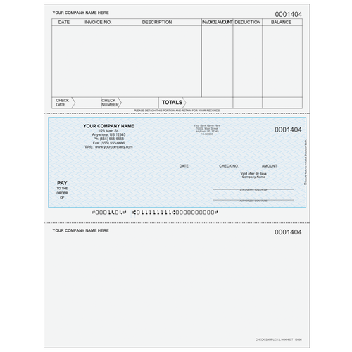 L1404 - Accounts Payable Middle Business Check