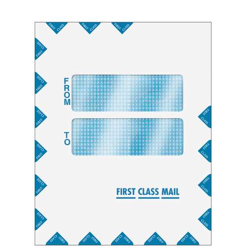 CCLNT910 - Offset Window First Class Mailing Envelope - Peel & Close