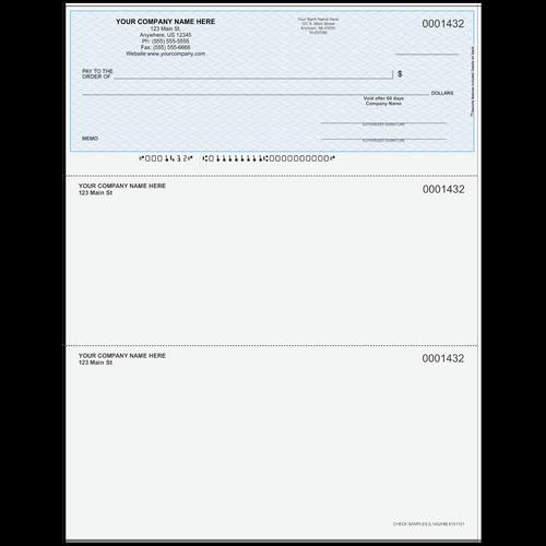 L1432 - Multi-Purpose Top Business Check