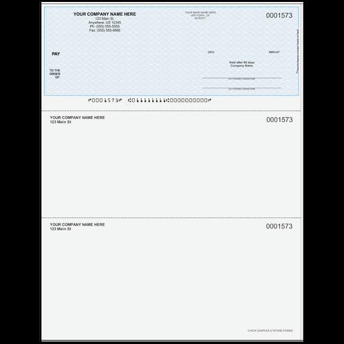 L1573 - Multi-Purpose Top Business Check