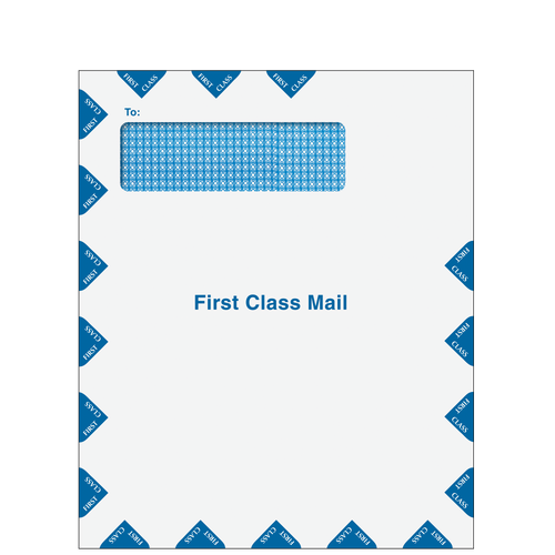 CLNT9PS10 - Single Window First Class Mail Envelope - Peel & Close