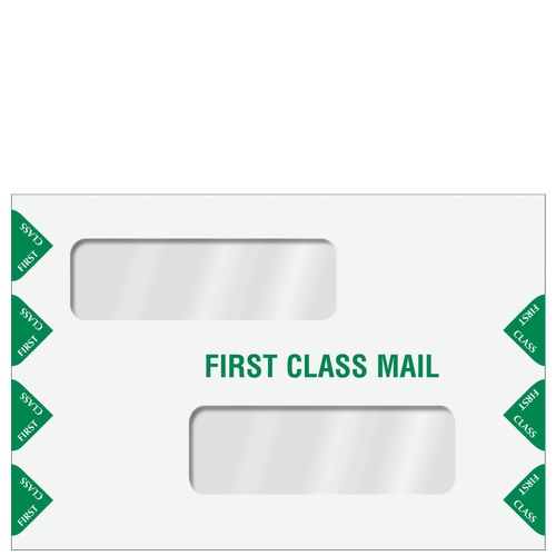 ENV300PS - Double Window Tax Return Envelope with Filing Instructions (Peel & Seal)