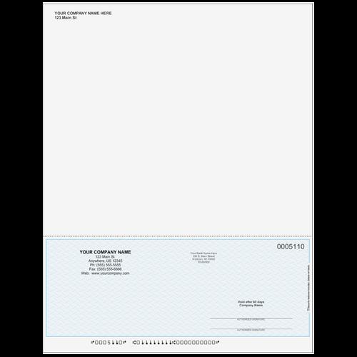 5110SKYB - Multi-Purpose Bottom Business Check (One Perf)