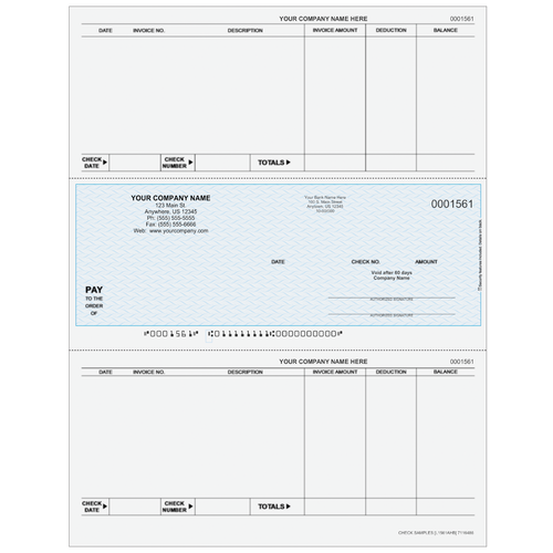 L1561A - Accounts Payable Middle Business Check