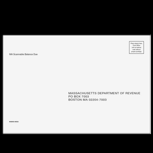 MABS610 - Massachusetts Scannable Balance Due Envelope