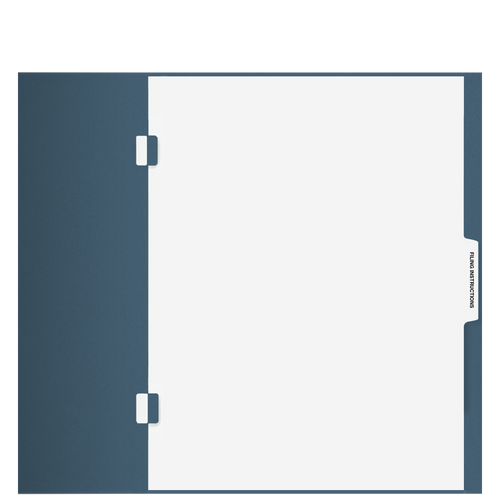 TB101S - 'Filing Instructions' Side-Staple Index Tab Divider