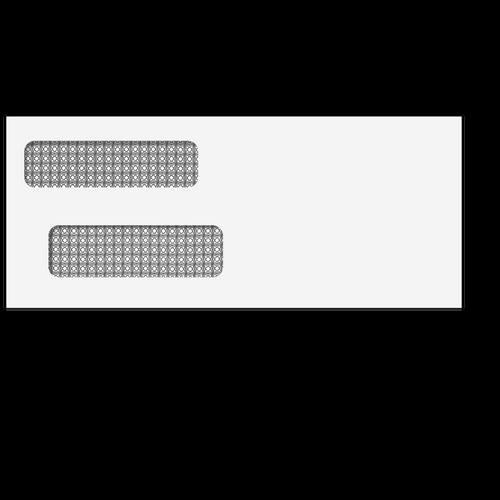 80525 - 3 7/8x9 1/4 Double Window Envelope