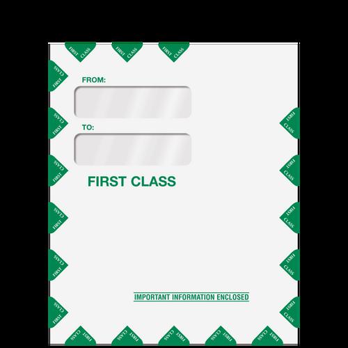 80342PS - Double Window Tax Organizer Envelope (Peel & Close)