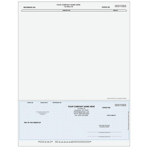 L1565 - Accounts Payable Bottom Business Check (One Perf)