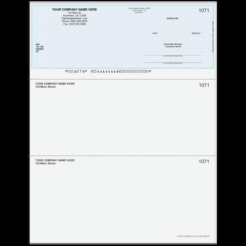 L1071 - Multi-Purpose Top Business Check