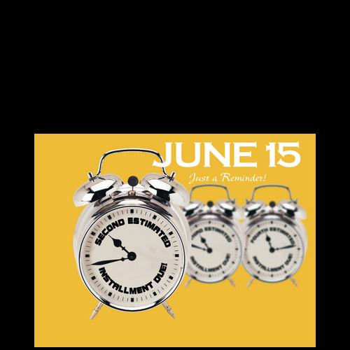 PC49 - Tax Estimate Reminder Postcard - June 15