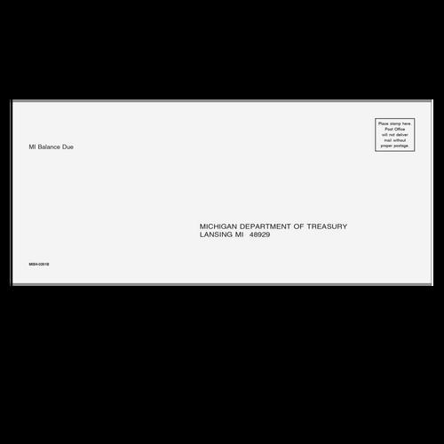 MIB410 - Michigan Balance Due Envelope