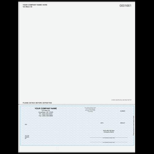 L1661 - Multi-Purpose Bottom Business Check (One Perf)