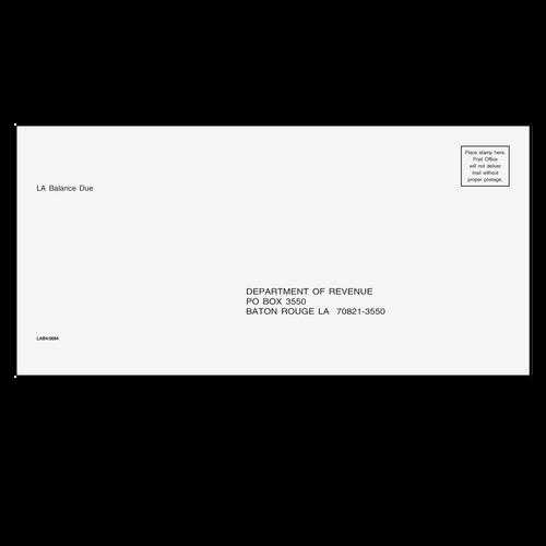 LAB410 - Louisiana Balance Due & E-File Envelope