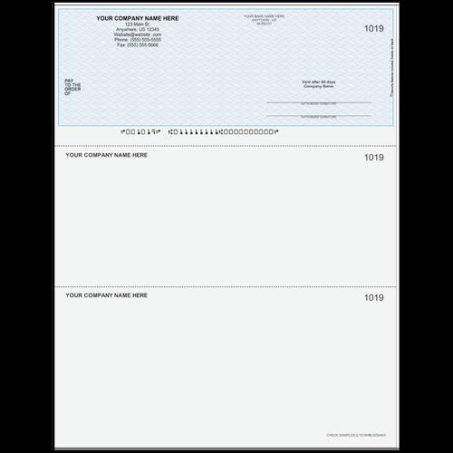L1019 - Multi-Purpose Top Business Check